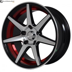 "16"" Flying Eagle XJ037 Black Glossy & Matt Silver With Red Ring"