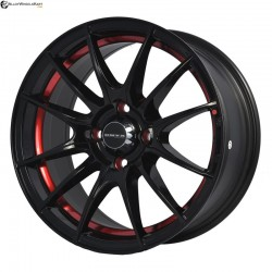 "15"" Onyx MM581 Black Glossy w Red Ring"