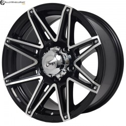 "17"" Onyx 1704 Black Glossy & Polished Metal"