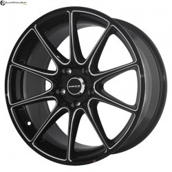 "17"" Onyx MP660 Black Glossy & Silver Milling"