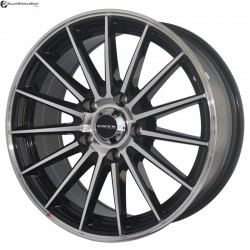 "17"" Onyx WMS07G  Black Glossy & Polished Metal 5h"