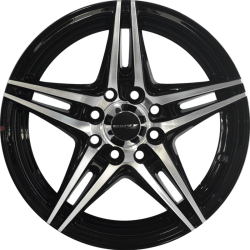 "14"" Onyx WMS08G Black Glossy & Polished Metal"