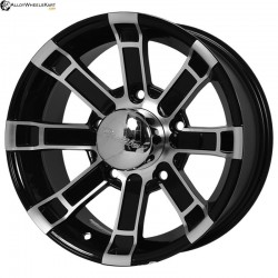 "15"" Flying Eagle 855 Black Glossy & Polished Metal"