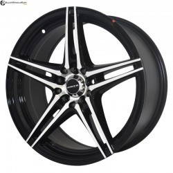 "17"" Onyx WMS08G Black Glossy & Polished Metal 10h"