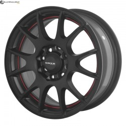 "14"" Onyx M8540 Black Satin & Red Ring"