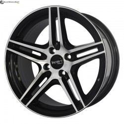"16"" Flying Eagle 599 Black Glossy & Polished Metal 5h"