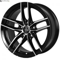 "16"" Flying Eagle 651 Black Glossy & Polished Metal 5h"