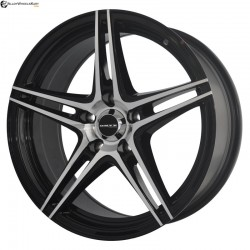 "16"" Onyx WMS08G Black Glossy & Polished Metal 5h"
