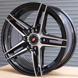 "14"" G-Max 1428 Black Glossy & Polished Metal"