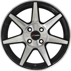 15 Inches KSpeed 57092 Black Glossy & Polished Metal