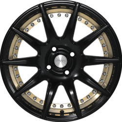 16 Inches Flying Eagle XJ147 Black Satin w Gold Ring