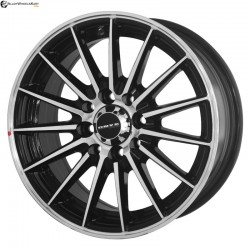 "16"" Onyx WMS07G  Black Glossy & Polished Metal 8h"
