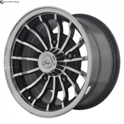"15"" Onyx 1508 Metal Polished & Glossy Black 5 139.7"