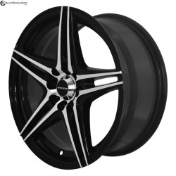 "16"" Onyx WMS08G Black Glossy & Polished Metal 10h"