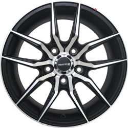 "15"" Onyx MT02G Black Glossy & Polished Metal"