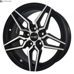 "16"" Onyx ML773 Black Glossy & Polished Metal"