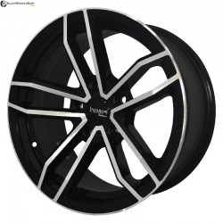 "16"" Flying Eagle 786 Black Glossy & Polished Metal"