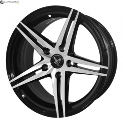 "16"" Flying Eagle K004 Black Glossy & Polished Metal"