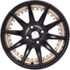 "15"" Flying Eagle XJ147 Black Machined Golden Lip"