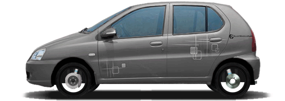 Tata Indica V2 Lx Compatibile Alloy Wheels With Rim Size Holes